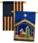 Nativity of Jesus Decorative USA Vintage Applique House Flags Pack HP114214 BOAA