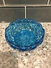 Vintage L.E. Smith Blue Moon Stars Candy Dish Flat Bottom