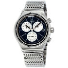 Swatch Irony Destination London Blue Dial Stainless Steel Men's Watch YVS410C