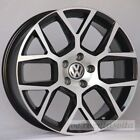 18 LAGUNA STYLE BLACK WHEELS RIMS FITS VW VOLKSWAGEN RABBIT EOS SPORTWAGEN TDI