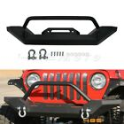 Front Bumper D Ring Winch Mount Rock Crawler Guard For Jeep Wrangler TJ YJ 87 06
