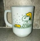 2 Fire King Snoopy Coffee Mugs Cups French Toast and Life is Pure Joy MINT