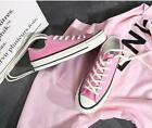 Womens Lace Up Low Top Canvas Athletic Sneakers Breathable Flat Shoes SZ