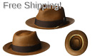 Bailey of Hollywood Mens Outen Fedora Trilby Hat Large Sienna