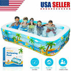 Large Inflatable Swimming Pool Kids Water Play Fun For Family Children Adults US