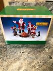 NEW 2018 LEMAX Village Christmas Celebration Mrs Claus Santa Campfire Elves