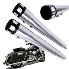 4 Chrome Megaphone Slip On Mufflers Exhaust Pipes For 95 16 Harley Touring FLH
