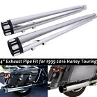 4 Megaphone Exhaust Mufflers Slip On For Harley Road Street Glide Ultra Classic