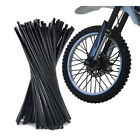 72 Motorcycle Dirt Bike Spoke Skins Covers Wraps Wheel Rim Guard Protector Black
