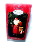 Santa Making His Way Folk Art 1998 Hallmark Keepsake Ornament Collectors Club