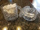 Shannon by Godinger 24 Lead Crystal Double Decker Bisquit Jar New in Box