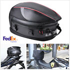 16-21L PU leather Motorcycle Back Seat Bags Travel Bag Sport Luggage+Dust Cover