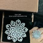 Cz Indian Bollywood Ethnic Wedding Partywear Cz Cocktail Ring Dh476