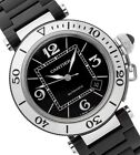 Cartier Pasha Seatimer 40.5MM Unisex Strap Steel Watch With Box/Papers W31077U2