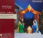 Christmas Gemmy Holiday Living 65 ft Nativity Scene Airblown Inflatable NEW