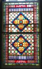 Beautiful 19th Century LARGE STAINED GLASS Architectural Jeweled WINDOWS