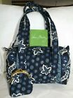 VERA BRADLEY Perfect Condition HANDBAG BLUE COIN Navy  New Coin Purse