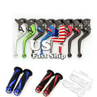 US FXCNC Short Clutch Brake Levers Grips For Honda Yamaha Kawasaki Suzuki Ducati