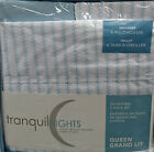 Tranquil Nights Luxury Weight Bedding Microfiber 6 Pcs Sheet Set Queen Blue P
