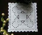 25 pcs 5 INCH SQUARE LACE WHITE PAPER LACE DOILIES CRAFT WEDDING CARD RETIRED