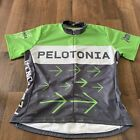 Vintage Pelotonia 2010 Womens Cycling Jersey 3 4 Zip Ohio State University Large