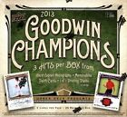 2013 Upper Deck Goodwin Champions Hobby Box 3 Hits 1 1 Printing Plates Hard AU
