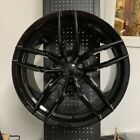 19 VOSS GLOSS BLACK STAGGERED RIMS WHEELS FITS LEXUS IS250 IS350 IS ES300 ES330