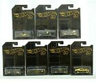 Hot Wheels Limited 50th Anniversary 2018 Edition Black and Gold Collection Cars