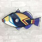 Ben Diller Hawaii Fish Art Pottery Dish Wall Hanging 2003 Humuhumurukunakuapuaa