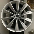 21 TURBINE STYLE STAGGERED SILVER SET OF 4 WHEELS RIMS FITS TESLA MODEL S