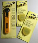 NEW OLFA 28mm ORIGINAL ROTARY CUTTER WITH 2 PACKS OF REPLACEMENT BLADES