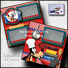 DISNEY GOOFYS KITCHEN 2 premade scrapbook pages paper piecing BY CHERRY 0071