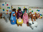 1993 Avon My first Christmas Nativity Collection 3 Wise Men Holy Family Animals