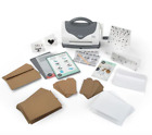 Sizzix Texture Boutique Embossing Machine Starter Kit Tag Card making Set 50 PC