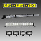 52INCH 2700W LED Light Bar Combo+22 1080W+4 144W For Jeep Wrangler JK YJ CJ LJ