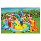 Dinosaur Play Outdoor Slide Swimming Pool Garden Inflatable Playground for Kids