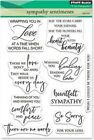 Penny Black Clear Stamps Sympathy Sentiments 5X65
