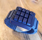 Click Keyboard Watch Blue LED Works! RETRO! GEEK! Excellent Condition!
