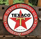 VINTAGE TEXACO GASOLINE PORCELAIN SIGN GAS STATION PUMP PLATE MOTOR OIL