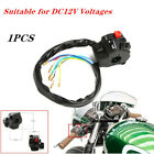 DC12V Motorcycle 22mm Handle Bar Ignition Engine Stop Lamp Horn Light ATV Switch