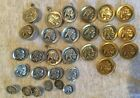 30 Vintage Indian Nickel Inspired Costume Jewelry Clothing Buttons 2 colors