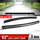 Curved 7D 52inch 3000W LED Light Bars Flood Spot Combo Driving Offroad Truck 54