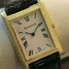 JAEGER LECOULTRE  Vintage 18kt Yellow Gold Tank Watch ref. 4434 Manual Wind JLC