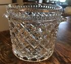 Vintage Fostoria American Glass Cookie Biscuit Jar Ice Bucket MINT Pressed Glass