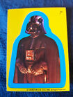 Star Wars 1980 Topps Sticker Card 33 Darth Vader Yellow Blue Border puzzle back