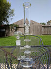 13 inch Glass Water Pipe Bong Triple Honeycomb + Showerhead Percolators