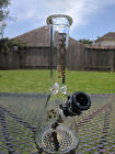Glass Beaker Water Pipe Phoenix 10 Inches Tall 144mm Black
