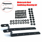 Iron Heavy Duty Motorcycle Hard Saddle Bags Mounting Kit For Most Cruisers