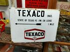 1960s Porcelain Texaco The Texas Company Oil Well Lease Sign