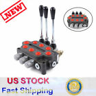 3 Spool 25 GPM Hydraulic Control Valve 3000PSI Double Acting Tractors Loader USA